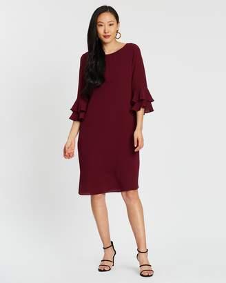Wallis Double Flute Sleeve Dress
