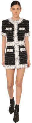Balmain Fringed Tweed Mini Dress