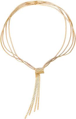 Bottega Veneta Flat Necklace in Argento Oro Giallo | FWRD