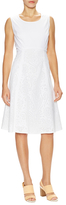 Lafayette 148 New York Shawn Cotton Perforated A Line Dress