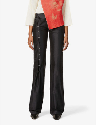 Kepler Hooked slim-fit wide-leg high-rise silk trousers