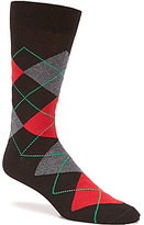 Daniel Cremieux Holiday Argyle Crew Socks