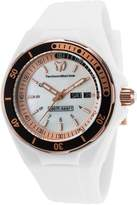 Technomarine Tm-115121 Women's Sea Manta Silicone And Mop Dial Two-Tone Bezel Watch
