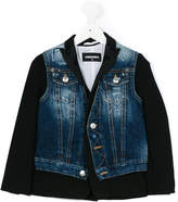 DSQUARED2 bi-material denim jacket