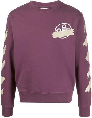 Off-White Diagonal Tape Arrows Sweatshirt