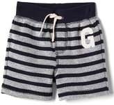Gap Logo stripe terry shorts
