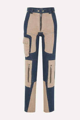 Gmbh GmbH - Antje Patchwork High-rise Skinny Jeans - Navy