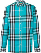 Burberry house check shirt - men - Cotton/Polyamide/Spandex/Elastane - XS