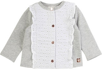 Carrément Beau ISA girls's Cardigans in Grey