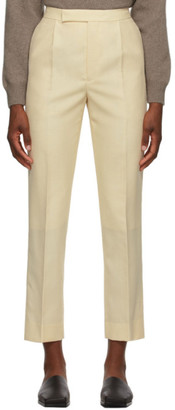 AURALEE Beige Wool Bluefaced Cloth Trousers
