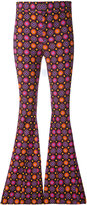 Givenchy psychedelic print flared trousers - women - Silk/Cotton/Polyamide/Modal - 36