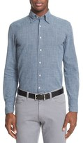 Canali Men's Trim Fit Micro Houndstooth Sport Shirt