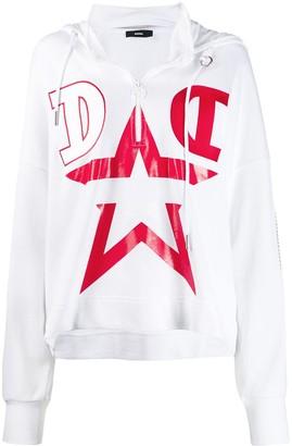Diesel star print jumper