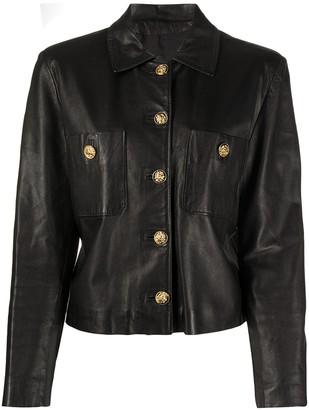 A.N.G.E.L.O. Vintage Cult 1990s Slim-Fit Leather Jacket