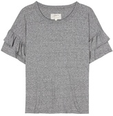 Current/Elliott The Ruffle Roadie Cotton-blend T-shirt