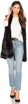 John & Jenn by Line Laurent Faux Fur Vest
