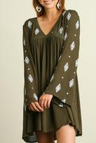 Umgee USA Embroidery Love Dress