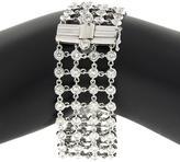 Ice 8 1/2 CT TW Diamond 18K White Gold 4-Row Lace Link Bracelet