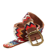 Lucky Brand Chevron Embroidered Belt