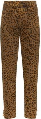 Saint Laurent leopard-print jeans