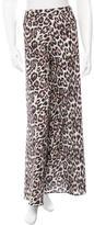 Alice + Olivia Leopard Print Flared Pants
