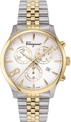 Salvatore Ferragamo Men's 42mm Duo Two-Tone Chronograph Bracelet Watch