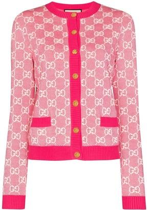 Gucci GG monogram piquet cardigan