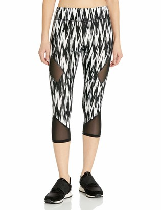 Andrew Marc Women's Printed Crop Legging W/Mesh Inserts