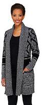 Isaac Mizrahi Live! 2-Ply Cashmere Fair Isle Sweater Coat