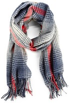 Sole Society Gradient Houndstooth Scarf