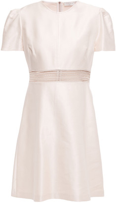 Sandro Lauralie Lace-trimmed Cotton-blend Satin-twill Mini Dress
