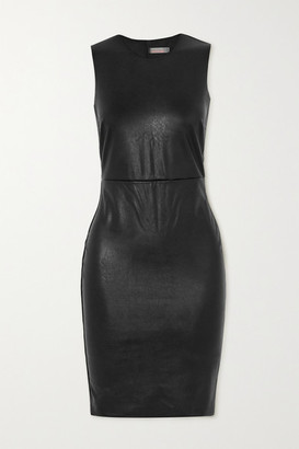 Commando Stretch Faux Leather Mini Dress - Black