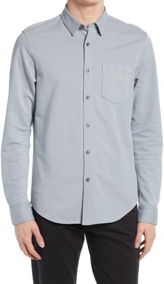 Club Monaco Solid Cotton Blend Button-Up Shirt