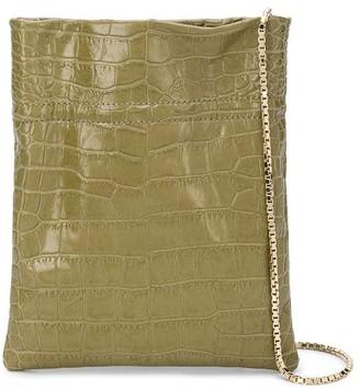 TL-180 Fazzoletto crocodile-effect tote bag
