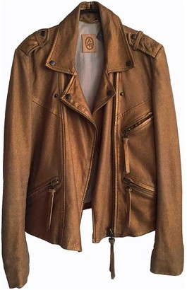 Ash Metallic Leather Leather Jacket for Women