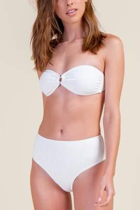 francesca's Carter High Waist Swimsuit Bottoms - Ivory