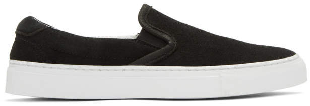 Diemme Black Suede Garda Slip-On Sneakers