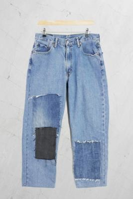 Urban Renewal Vintage Remade From Vintage Men's Levi's Patchwork Jeans - L at Urban Outfitters
