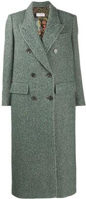 Alberto Biani Double-Breasted Wool Coat