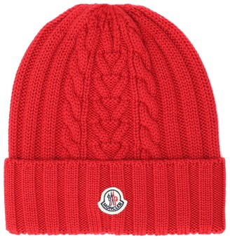 Moncler Cable-knit wool beanie hat