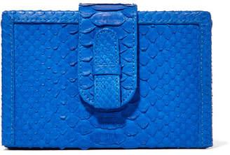 Ximena Kavalekas - Mandolin Python Clutch - Cobalt blue
