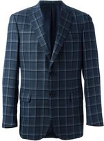 Brioni windowpane check blazer