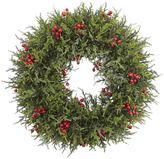 nearly natural Artificial Cedar Berry Wreath
