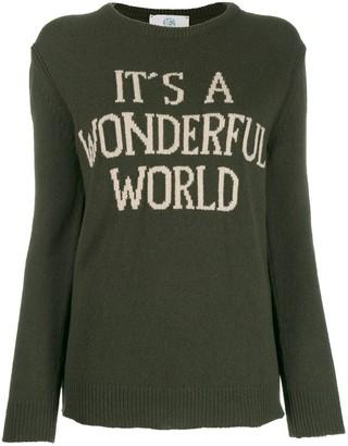 Alberta Ferretti intarsia-knit jumper