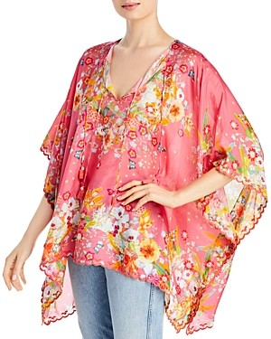 Johnny Was Suri Floral Print Tunic