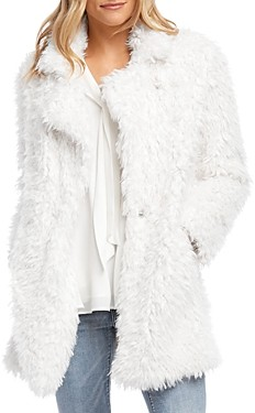 Karen Kane Shaggy Faux-Fur Jacket