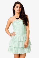 Forever 21 Tiered Tulle Strapless Dress