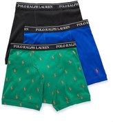Polo Ralph Lauren Classic Fit 100% Cotton Boxer Briefs - 3 Pack (LCBBH3) XL/