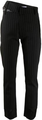 Delada Asymmetric Pinstripe Trousers