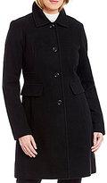 Preston & York Wool Notch Collar Single Breasted Reefer Coat